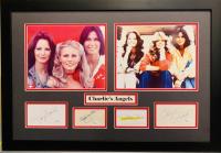 Charlie's Angels 18x26 Custom Framed Display Cast-Signed by (4) with Farrah Fawcett, Jaclyn Smith, Kate Jackson & Cheryl Ladd (JSA COA)