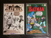 "Neal Adams Signed Batman Raw & Rendered ""The Legion Of Feline Furies!"" LE 21x28 Custom Matted Giclee (CM COA)"