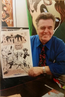 """Neal Adams Signed Batman Raw & Rendered """"The Legion Of Feline Furies!"""" LE 21x28 Custom Matted Giclee (CM COA) at PristineAuction.com"""