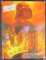 """Carrie Fisher & Peter Mayhew Signed """"Star Wars: The Empire Strikes Back"""" 18x24 Movie Poster (JSA LOA)"""