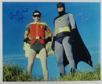 "Adam West & Burt Ward Signed ""Batman"" 16x20 Photo Inscribed ""Robin"" (Beckett Hologram)"