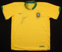 Ronaldinho Signed Brazil Jersey (PSA Hologram)