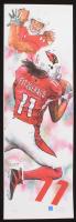LE Larry Fitzgerald Arizona Cardinals 12x36 Lithograph (PA LOA)