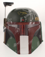 """Jeremy Bulloch Signed Star Wars """"Boba Fett"""" Deluxe Helmet Inscribed """"Boba Fett"""" (JSA COA)"""