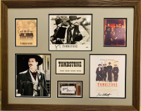 Tombstone 24x30 Custom Framed Display Cast-Signed by (4) with Kurt Russell, Bill Paxton, Val Kilmer, and Sam Elliot (JSA COA & BGS Encapsulated)