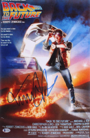 """Michael J. Fox Signed """"Back to the Future"""" 12x18 Movie Poster (Beckett Hologram)"""