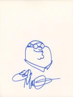 Seth MacFarlane Signed 8.5x11 Cut with Original Sketch (PSA COA)