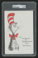 "Dr. Seuss Signed ""The Cat in the Hat"" 5.5x8 Cut (PSA Encapsulated)"