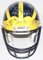 2006 Michigan Wolverines Full-Size Helmet Signed By (38) with Adrian Arrington, Darnell Hood, Brandon Minor, Zoltan Minor, Kevin Grady, Jake Long (Beckett LOA)
