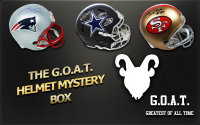 Schwartz Sports The G.O.A.T. Football Superstar Signed Full-Size Helmet Mystery Box - Series 1 (Limited to 112)