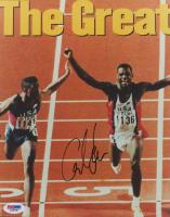 Carl Lewis Signed Team USA 8x10 Photo (PSA COA)