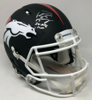 "Peyton Manning Signed Denver Broncos Limited Edition Custom Matte Black Full-Size Speed Helmet Inscribed ""5x NFL MVP"" (Fanatics Hologram) at PristineAuction.com"