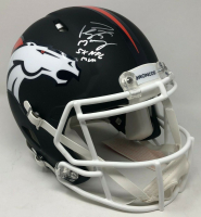 "Peyton Manning Signed Broncos LE Matte Black Full-Size Authentic On-Field Speed Helmet Inscribed ""5x NFL MVP"" (Fanatics Hologram) at PristineAuction.com"