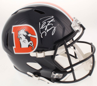 Peyton Manning Signed Denver Broncos Full-Size Speed Helmet (Fanatics Hologram) at PristineAuction.com