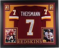 "Joe Theismann Signed Washington Redskins 35x43 Custom Framed Jersey Inscribed ""83 MVP"" (Beckett COA)"