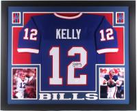 Jim Kelly Signed Buffalo Bills 35x43 Custom Framed Jersey (JSA COA)