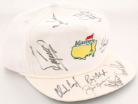 """Masters"" Adjustable Hat Signed by (9) with Jack Nicklaus, Arnold Palmer, Ray Floyd, Fuzzy Zoeller, Sandy Lyle (PSA LOA)"