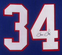 Thurman Thomas Signed Buffalo Bills 35x43 Custom Framed Jersey (JSA Hologram) at PristineAuction.com