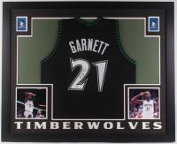 Kevin Garnett Signed Minnesota Timberwolves 35x43 Custom Framed Jersey (PSA COA)