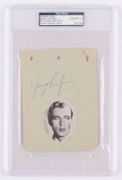 Gary Cooper Signed 4.5x6 Album Page (PSA Encapsulated) at PristineAuction.com