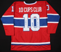 "Henri Richard, Jean Beliveau, & Yvan Cournoyer Signed Montreal Canadiens Cup Winners Jersey Inscribed ""11 Cups"" & ""10 Cups"" (Beckett LOA) at PristineAuction.com"