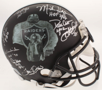 """Oakland Raiders """"Greats"""" Full-Size Helmet Signed By (22) With Odis McKinney, Ray Chester,  Jerry Robinson, James Jett With Multiple Inscriptions (JSA COA)"""
