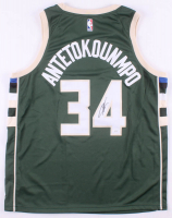 Giannis Antetokounmpo Signed Milwaukee Bucks Authentic Nike Jersey (JSA COA) at PristineAuction.com