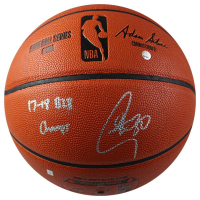 "Stephen Curry Signed Spalding Basketball Inscribed ""17-18 B2B Champs"" (Steiner COA) at PristineAuction.com"