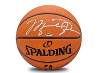 Michael Jordan Signed Spalding Basketball (UDA COA) at PristineAuction.com
