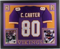 Cris Carter Signed Minnesota Vikings 35x43 Custom Framed Jersey (JSA Hologram)
