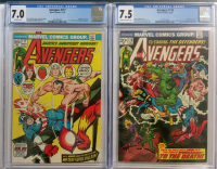 Lot of (2) CGC Graded 1973 The Avengers Marvel Comic Books with #117 (7.0) & #118 (7.5)