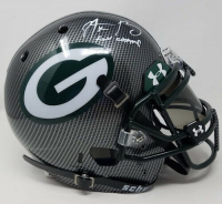 "Aaron Rodgers Signed Green Bay Packers Limited Edition Custom Hydro Dipped Full-Size Authentic On-Field Helmet Inscribed ""XLV Champ"" (Steiner COA) at PristineAuction.com"