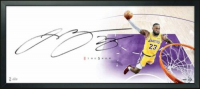 "LeBron James Signed Los Angeles Lakers ""The Show"" 20x46 Custom Framed Lithograph (UDA COA)"