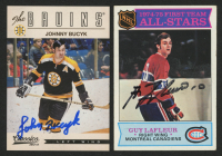 Lot of (2) Signed Hockey Cards with 1975-76 Topps #290 Guy Lafleur AS1 & 2012-13 Classics Signatures #73 Johnny Bucyk (JSA COA) at PristineAuction.com