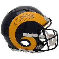 Jared Goff Signed Los Angeles Rams Throwback Full-Size Authentic On-Field Speed Helmet (Fanatics Hologram) at PristineAuction.com