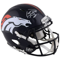 Peyton Manning Signed Denver Broncos Full-Size Authentic On-Field Speed Helmet (Fanatics Hologram) at PristineAuction.com