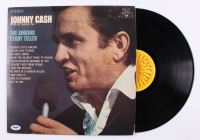 "Johnny Cash Signed ""The Singing Story Teller"" Vinyl Record Album Cover (PSA COA) at PristineAuction.com"