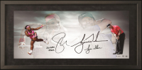 "Tiger Woods & Serena Williams Signed 18x36 Custom Framed Limited Edition Photo Inscribed ""Serena Slam & Tiger Slam"" (UDA COA)"