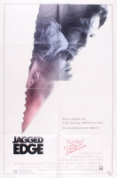 "Robert Loggia SIgned ""Jagged Edge"" 27x41 Movie Poster Inscribed ""F***'m He Was Trashed, Sam Ransom"" (Beckett COA)"