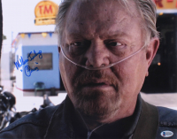 """William Lucking Signed """"Sons of Anarchy"""" 11x14 Photo Inscribed """"Piney"""" (Beckett COA)"""