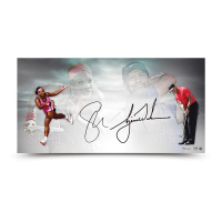 Tiger Woods & Serena Williams Signed 18x36 Limited Edition Photo (UDA COA) at PristineAuction.com
