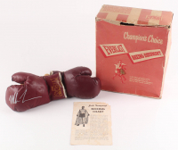 Mike Tyson Signed Pair of (2) 1950 Original Jack Dempsey Everlast Boxing Gloves (JSA COA)