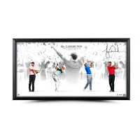 "Tiger Woods Signed ""Victory"" 18x36 Custom Framed Limited Edition Photo (UDA COA) at PristineAuction.com"
