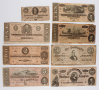 1864 Confederate Bank Note Set of (8) with $100, $50, $20, $10, $5, $2, $1 & $.50 at PristineAuction.com