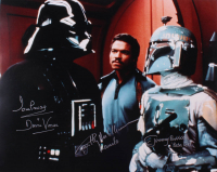 "David Prowse, Jeremy Bulloch, & Billy Dee Williams Signed ""Star Wars"" 16x20 Photo with Multiple Inscriptions (Beckett LOA)"