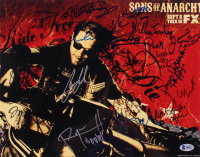 """""""Sons of Anarchy"""" 11x14 Photo Cast-Signed by (20) with Charlie Hunnam, Katey Sagal, Tommy Flanagan, Kim Coates, Ron Perlman with Inscriptions (Beckett LOA)"""