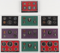 Lot of (10) United States Mint Proof Sets with 1968, 1972, 1973, 1976, 1981, 1986, 1988, 1990 ,1996, & 1997
