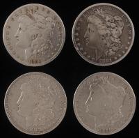 Lot of (4) Morgan Silver Dollars with 1881, 1883, 1890-O, & 1921-D