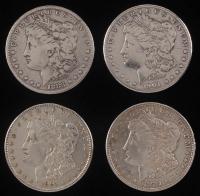 Lot of (4) Morgan Silver Dollars with 1883, 1891, 1901-O, & 1921