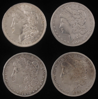 Lot of (4) Morgan Silver Dollars with 1880, 1892, 1900-O, & 1921